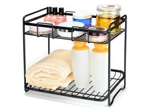 Kitchen Rack Bathroom 2 Tiers Organizer Spice Rack Stand Spice Jars Shelf Holder