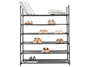 6-Tier Shoe Rack Space Saving Storage Organizer hold up to 36 Pairs shoes Home