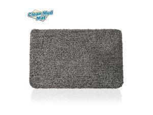 """Super Absorbent Doormat Mud Dirt Trap Door Mats Gray, 28"""" x 21"""" - LIVINGbasics™"""