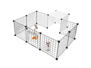 14-Panels Pet Playpen Small Animals Cage Metal Wire Yard Fence