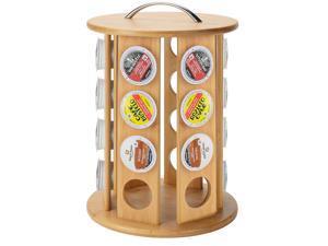 ® Bamboo 24 Capacity K-Cup Single Serve Coffee Pod Holder Carousel