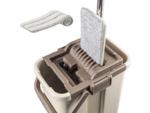 @ Self-Wash and Squeeze Dry Flat Mop  Bucket Kit Household Home Clean