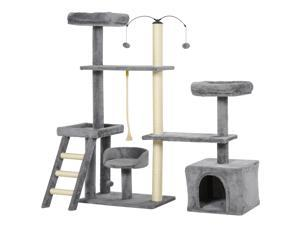 Plush Cat Tree Tower Activity Center with Sisal Scratching Posts Condo