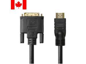 25ft HDMI to DVI-D Dual Link 28AWG High Speed Cable w/Ferrite Cores