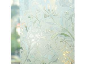 """White Frosted Window Film Frost Etched Glass Sticky Back Plastic, 35"""" X 79"""""""
