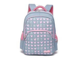 """® Children Kids Schoolbag Backpack, 11.8"""" x 5.9"""" x 16.3"""", Gray"""