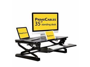 "35"" Ergonomic Height Adjustable Standing Desk Sit to Stand Desk Desk Top Riser"