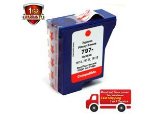 ® Red Fluorescent Ink Cartridge for Pitney Bowes 797-0 797-M 797-Q