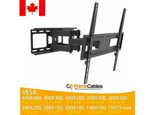 """26""""-55"""" Dual Arm  Flat Panel Home TV Wall Mount Full Motion Tilt Swivel LCD LED"""