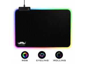 Moustache® RGB Gaming Mouse Pad, 7 LED Color, 2503mm, M Size