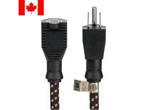 3FT Power Extension Nylon Braided 3 Punches Grounded UL Listed 16 AWG 13A 125V