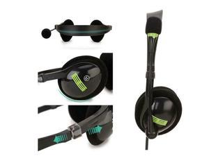 USB2.0 stereo Headset with Mic for home, office and gaming - Black