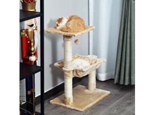Cat Tree Condo Furniture Hammock with Natural Sisal Scratching Post