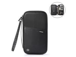 Multi    RFID Block Waterproof Passport Wallet with Card Holder - Black