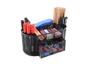 ® Metal Mesh Desk Organizer, 9 Compartments, Black