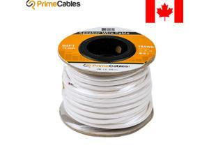 50ft In Wall Audio Speaker Cable Wire CL2 18 AWG Gauge 2 Conductor Bulk White