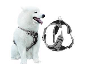 Dog No-Pull  Harness Adjustable Outdoor Pet Vest 3M Reflective Oxford Vest, L