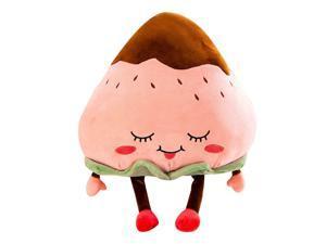 Plush Stuffed Strawberry Soft Pillow Toy Sleeping Comfort Cushion Pink 1Pc, 45cm