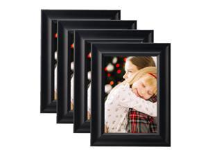"""® 5"""" x 7"""" Photo Frame, Wall Hanging or Standing , 4/Pack, Black"""