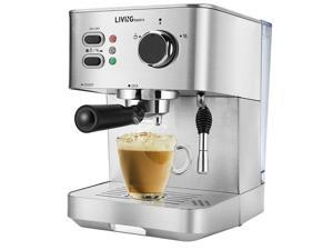 NEW Espresso Machine Cappuccino and Latte Coffee Maker, 15 Bar With Milk Frother