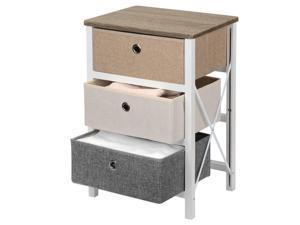 3-Drawer Storage Organizer Unit For Closet,Bedroom LivingRoom Entryway MDF Pine