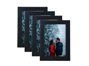 """® 4"""" x 6"""" Decor Picture Frame, Table Stand or Wall Mounted, 4/Pack, BK"""
