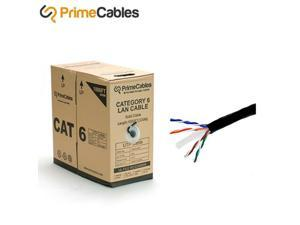 1000FT 23AWG4P Bare Copper Cat6 UTP Solid Bulk Cable, In-Wall Rated CM Black
