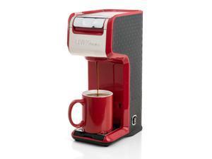 Red 2 In 1 Single Serve Slim Coffee Kitchen Maker Brewer, Ground  K-Cup Pods