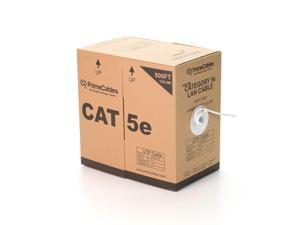 ® 500ft Cat5e 24AWG UTP Solid Bulk Cable, In-Wall Rated CL2