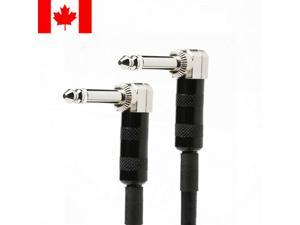 3ft Premier Series 1/4inch TS or Mono Phono Right Angle M/M 16AWG Audio Cable