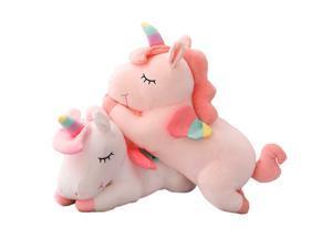 1PK Unicorn Gifts Sleeping Comfort Cushion Pillow Plush Unicorn Toy -White, 50cm