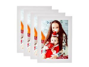 "® 5"" x 7"" Decor Picture Frame, Table Stand or Wall Mounted 4/Pack White"