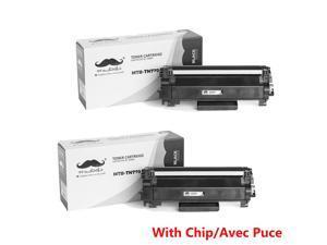 2X TN770 Black Toner Cartridge With Chip Brother MFC-L2750DW L2370DWXL L2750DWXL