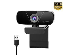 Full 1080P HD USB Pan  Tilt Rotantion Video Webcam with Microphone