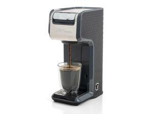 Grey 2 In 1 Single Serve Coffee Maker Brewer, Ground  K-Cup Pods Office Room