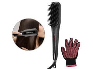 MCH Faster Heng Hair Irons Ionic Massager Straightening Hair Brush + Gloves