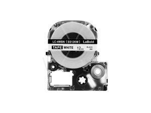 LK-4WBN Labelworks Standard Lk Remanufacture for 12mm Black on White LW-300 -700