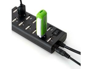 13 Ports USB 2.0 Hub with DC Power Adapter and Switch - PrimeCables®