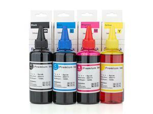 Universal Dye Refill Ink Combo for Brother Printer Cartridges BK/C/M/Y-4 x 100ml