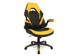 Racing Gaming Chair, Computer Chair with Flip Up Arms - Black  Yellow