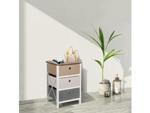 Drawer Storage Organizer Unit For Closet Bedroom Living Room Entryway MDF Pine F