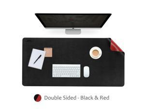 Black  Red Dual-Sided Extended Mouse Pad PU Material 900mm x 450mm