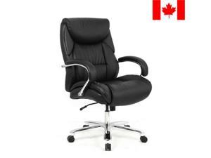 ® Big  Tall Bonded Leather Office Chair Chrome Base, Capacity 400lb