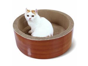 Cat Scratching Cardboard Cat Scratcher Bed Lounge and contains catnip