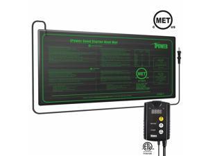 MET Certified Seedling Heat Mat  ETL Digital Thermostat Control Combo