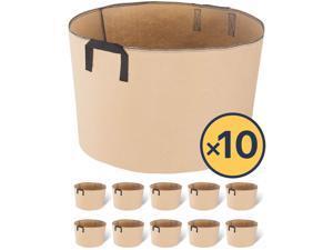 20 Gallon 10 Packs Fabric Aeron Plant Pots Grow Bags with Handles