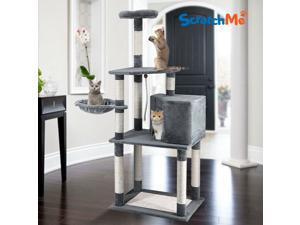 Cat Tree Tower Condo w/ Hammock Scratching Post  Perches for Big Cats