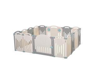 Children Playpen Safety Gate Kids Activity Center Fence HDPE
