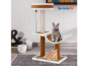 Cat Tree Condo w/ Hammock Scratching Post Cat Climbing Tower  Perches
