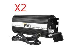 iPower 1000W Digital Dimmable Electronic Ballast for S MH Grow Light 2-Pack